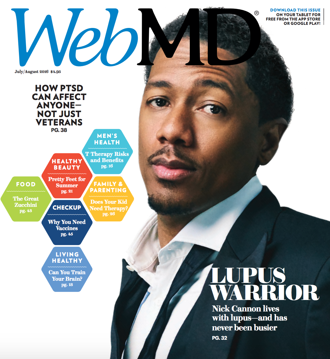 Nick Cannon WebMD Mag Lupus